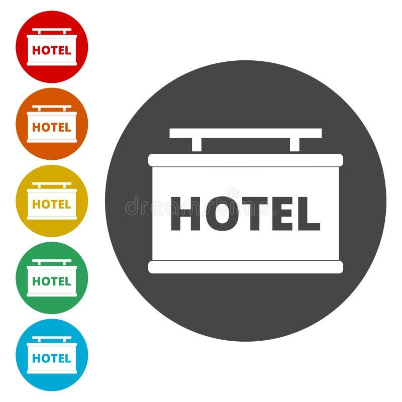 Icono del vector del tablero de la información, icono del hotel ilustración del vector