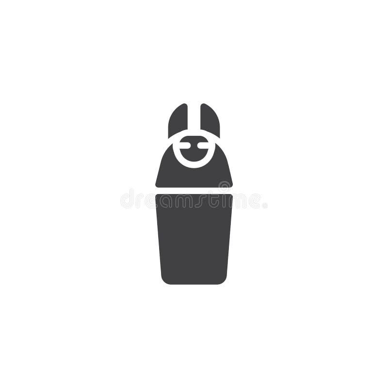 Icono del vector del tarro de Canopic ilustración del vector