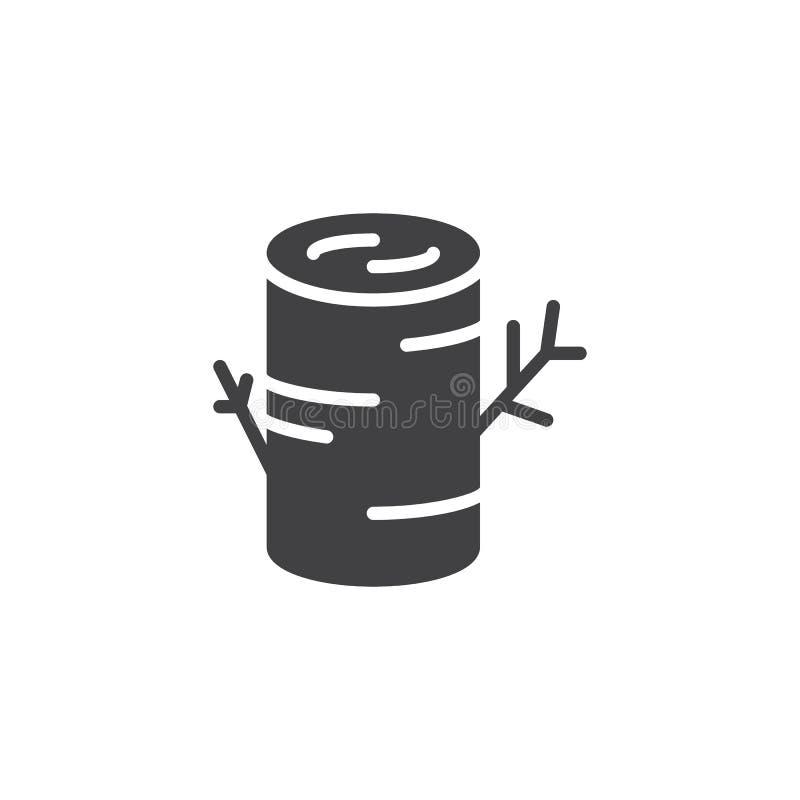 Icono del vector del tocón de árbol ilustración del vector