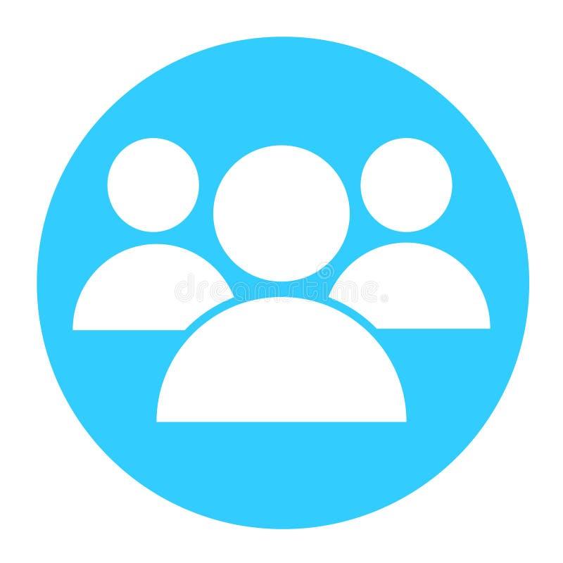 Icono del vector del trabajo en equipo del negocio ilustración del vector