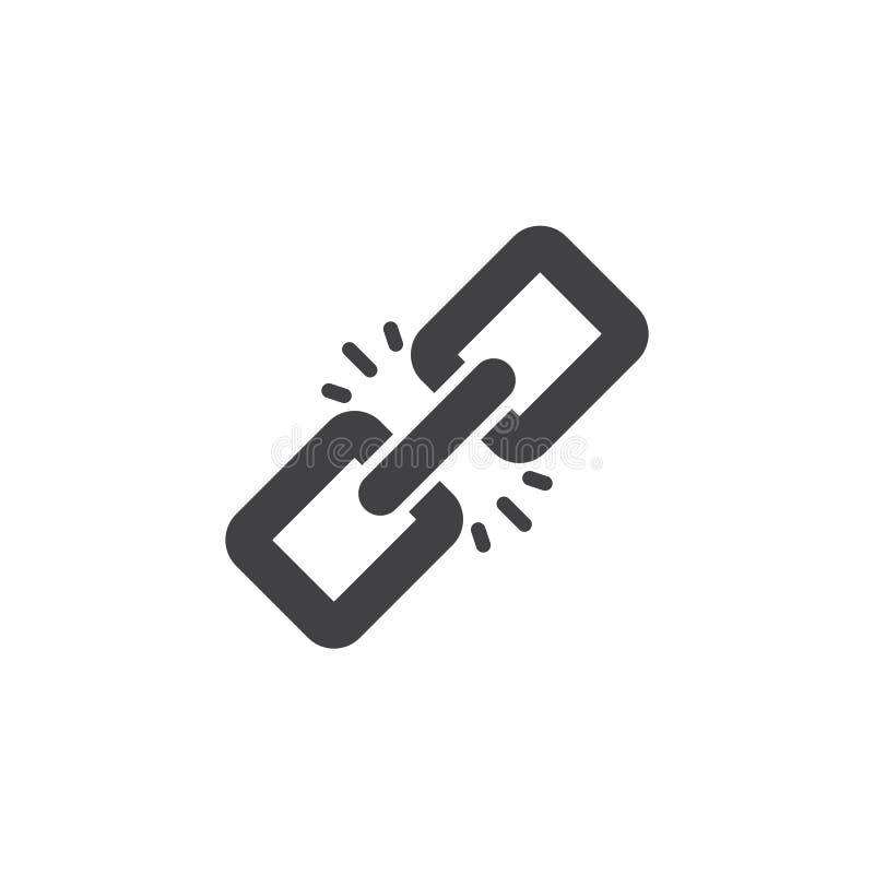 Icono del vector del vínculo ilustración del vector