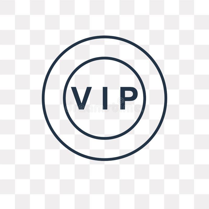 Icono del vector del Vip aislado en el fondo transparente, Vip linear t stock de ilustración