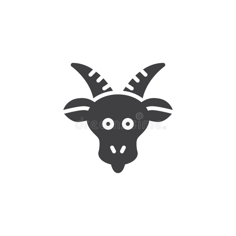 Icono del vector del zodiaco del Capricornio ilustración del vector