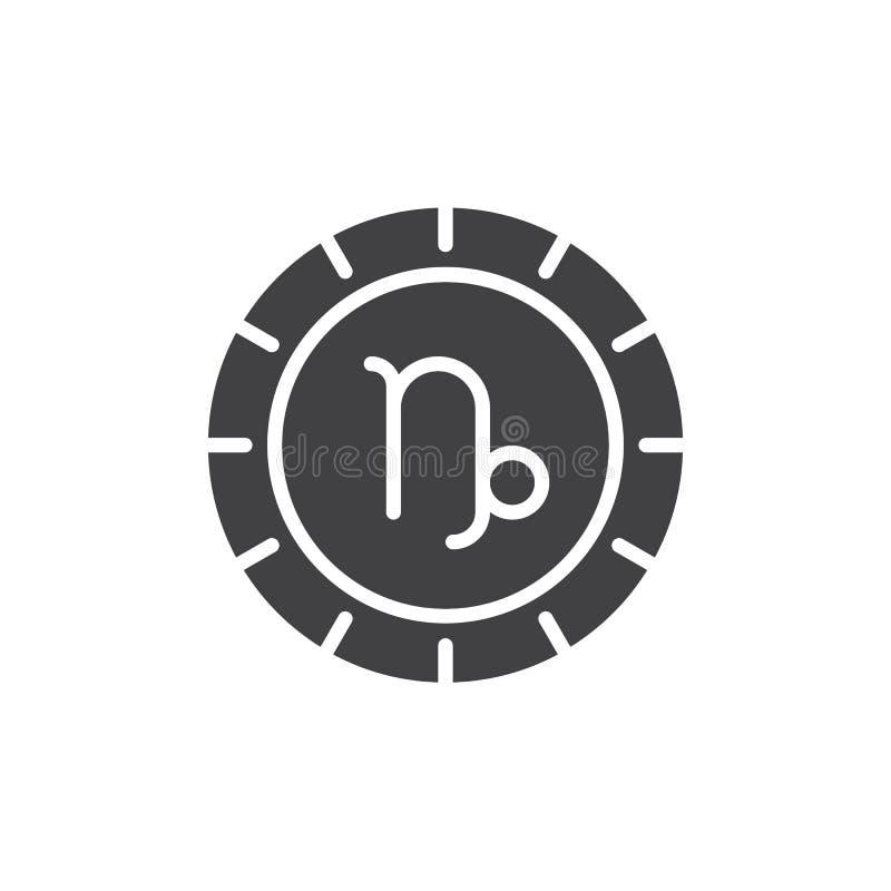 Icono del vector del zodiaco del Capricornio stock de ilustración