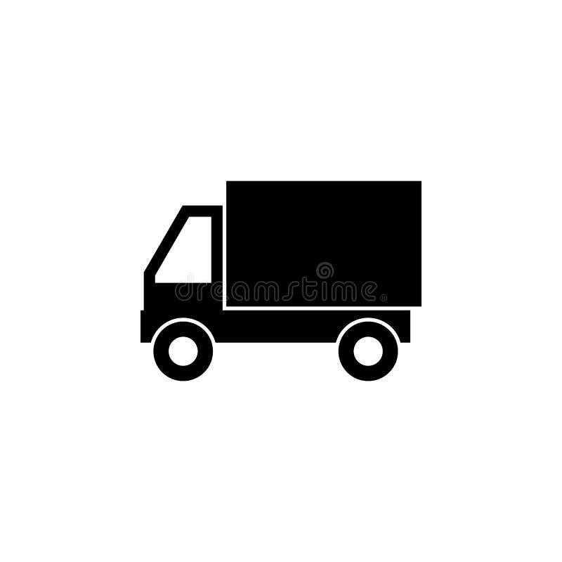 Icono del vehículo del camión de reparto Las muestras y los símbolos se pueden utilizar para la web, logotipo, app móvil, UI, UX stock de ilustración