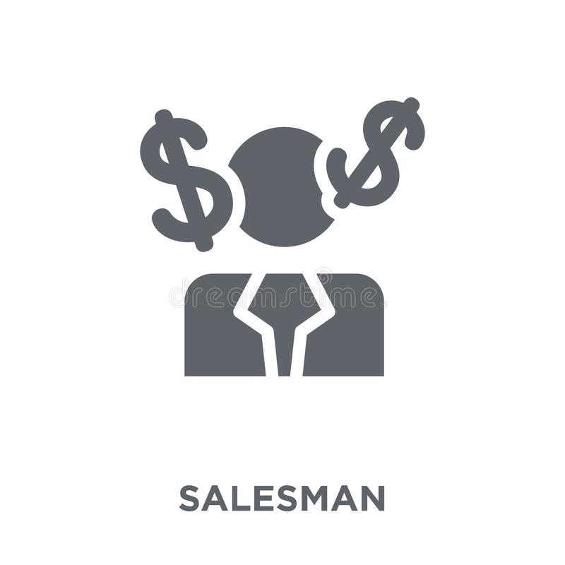 Icono del vendedor de la colección del márketing libre illustration