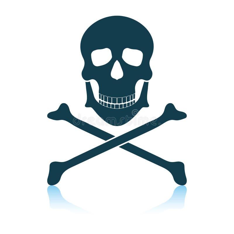Icono del veneno de la habilidad y de huesos stock de ilustración