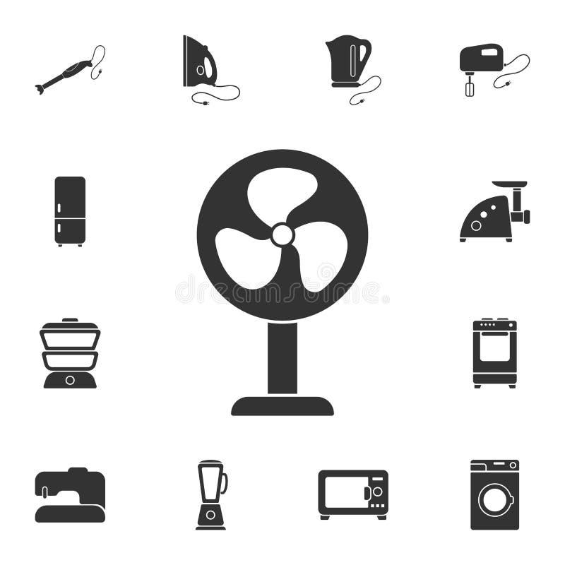 icono del ventilador Ejemplo simple del elemento Diseño del símbolo del ventilador del sistema casero de la colección de los mueb stock de ilustración