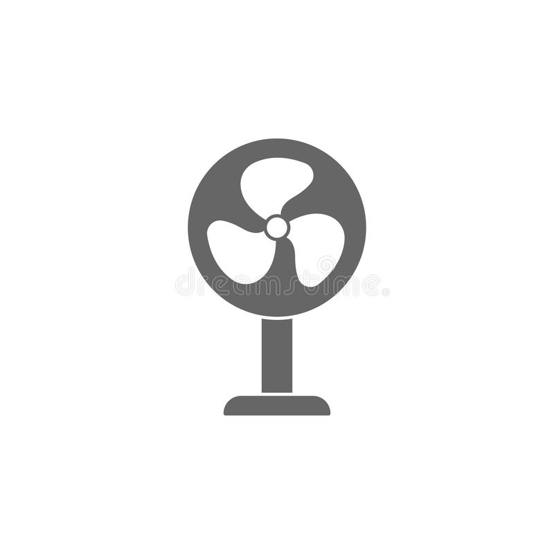 icono del ventilador Ejemplo simple del elemento plantilla del diseño del símbolo del ventilador Puede ser utilizado para el web  stock de ilustración