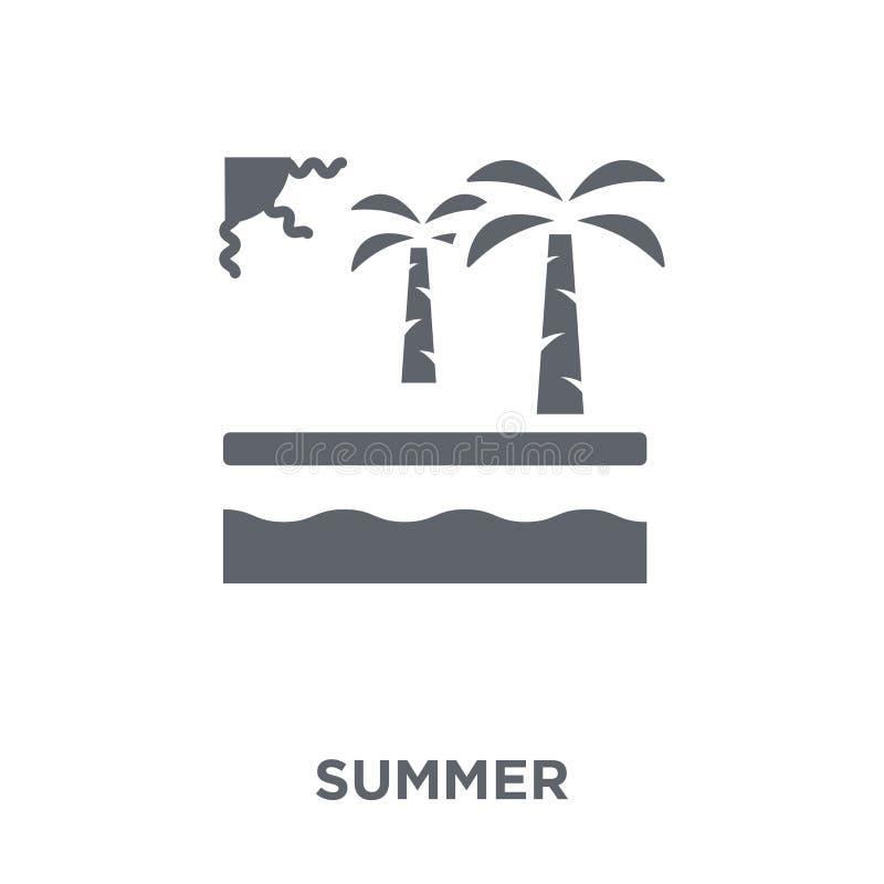 Icono del verano de la colección stock de ilustración