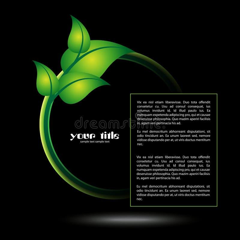 Icono del verde de la ecología de la hoja ilustración del vector