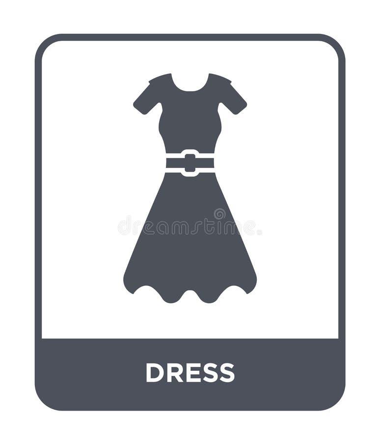 icono del vestido en estilo de moda del diseño Icono del vestido aislado en el fondo blanco símbolo plano simple y moderno del ic libre illustration