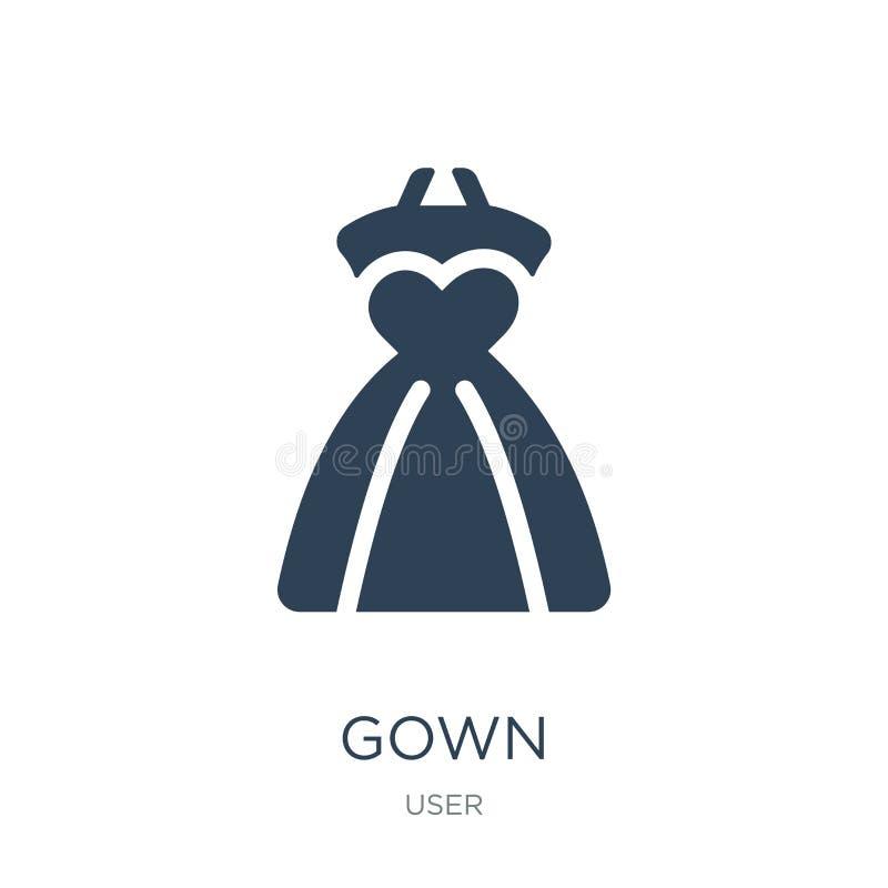icono del vestido en estilo de moda del diseño icono del vestido aislado en el fondo blanco símbolo plano simple y moderno del ic stock de ilustración