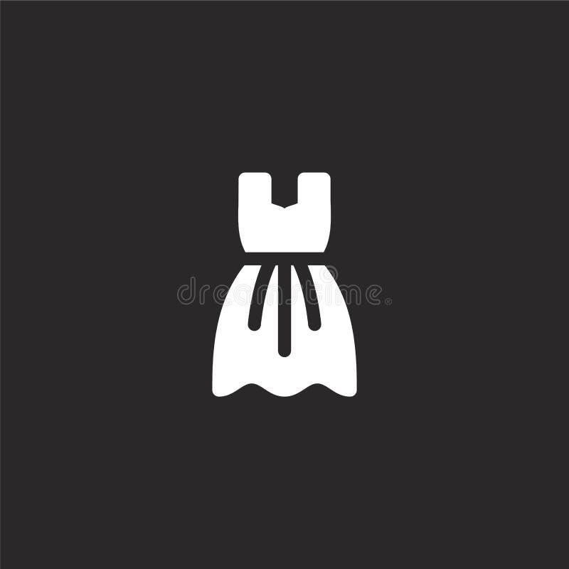 Icono del vestido Icono llenado del vestido para el diseño y el móvil, desarrollo de la página web del app icono del vestido de l ilustración del vector