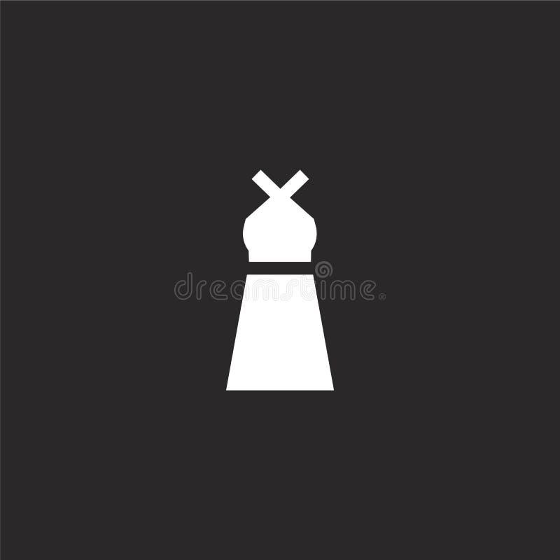 Icono del vestido Icono llenado del vestido para el diseño y el móvil, desarrollo de la página web del app icono del vestido de l libre illustration