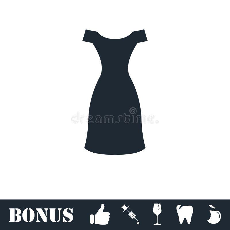 Icono del vestido plano libre illustration