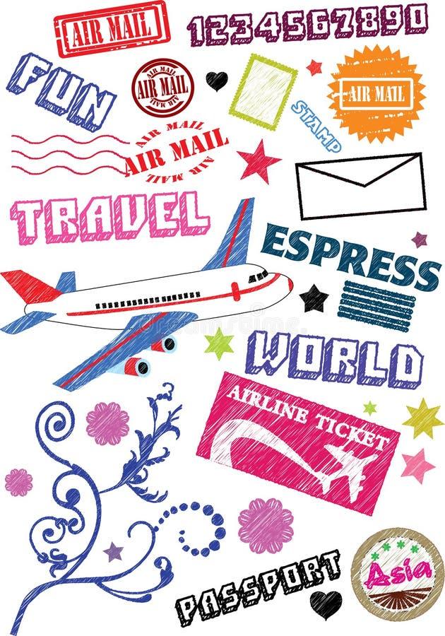 Icono del viaje del aire imagen de archivo libre de regalías
