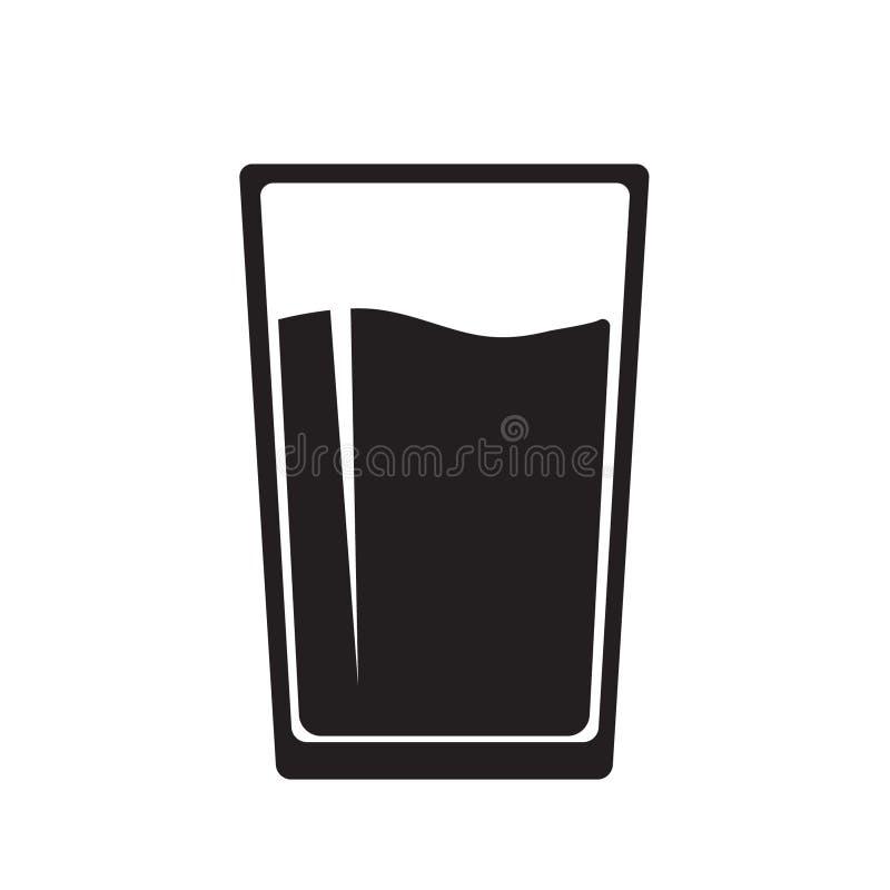 Icono del vidrio de agua stock de ilustración