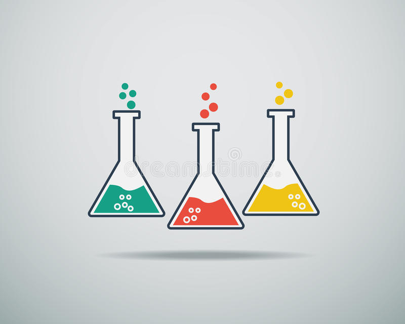 Icono del vidrio del laboratorio libre illustration