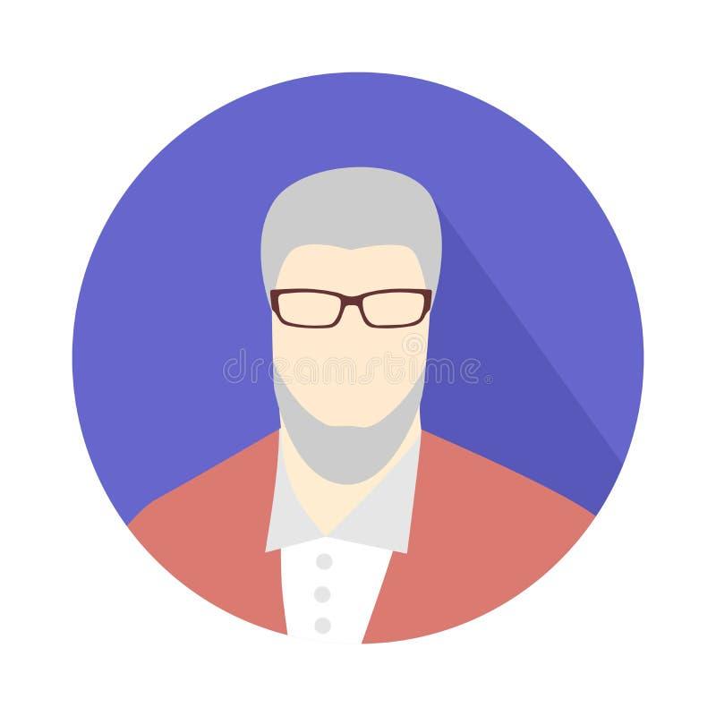 Icono del viejo hombre stock de ilustración