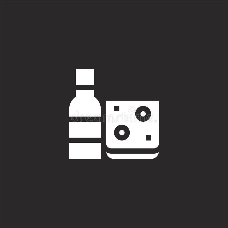 Icono del vino Icono llenado del vino para el diseño y el móvil, desarrollo de la página web del app icono del vino de la cama ll libre illustration