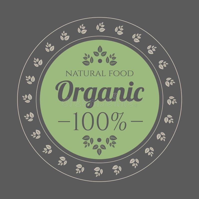 Icono del vintage del alimento biológico libre illustration