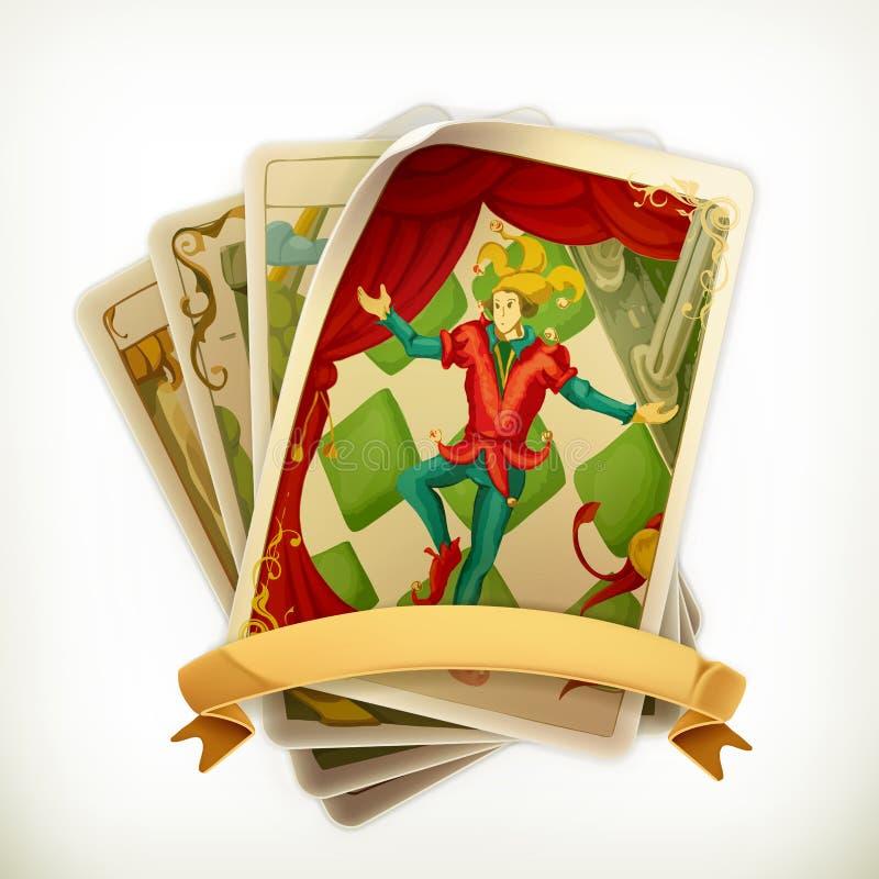 Icono del vintage del tarot ilustración del vector