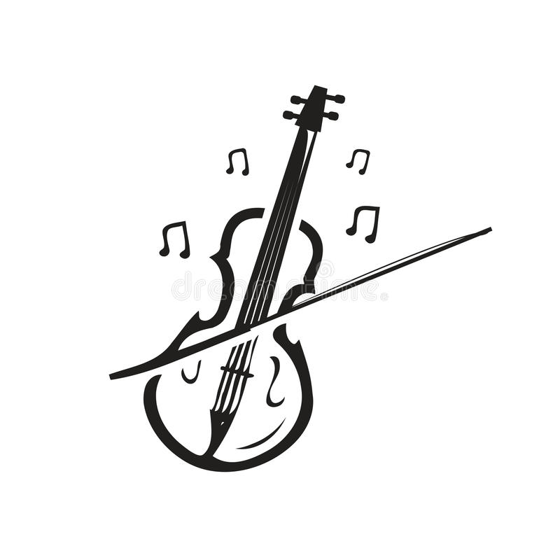 Icono del violín libre illustration