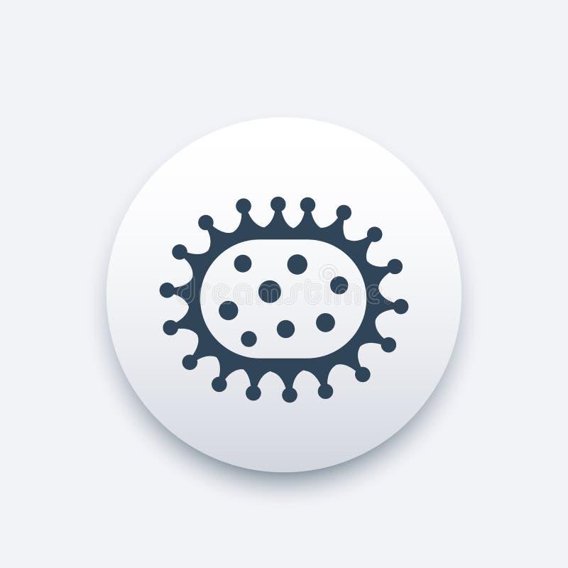 Icono del virus, microbiología, virología, bacterias stock de ilustración