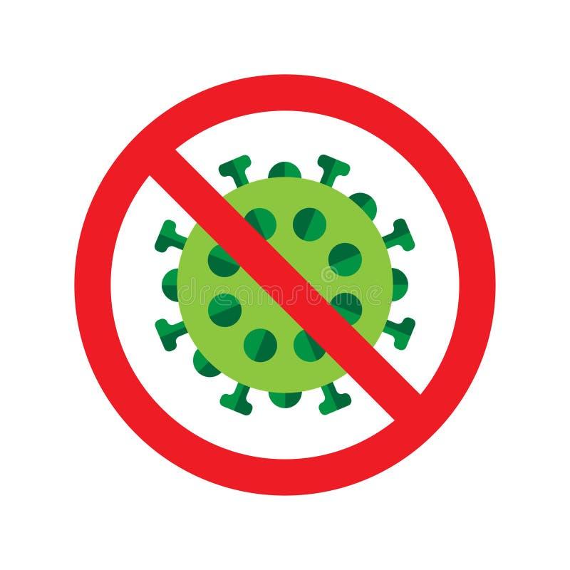 Icono del virus o de las bacterias stock de ilustración