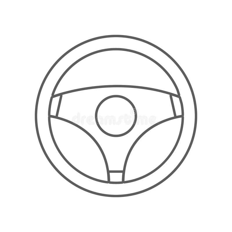 Icono del volante Elemento del coche repear para el concepto y el icono m?viles de los apps de la web Esquema, l?nea fina icono p ilustración del vector