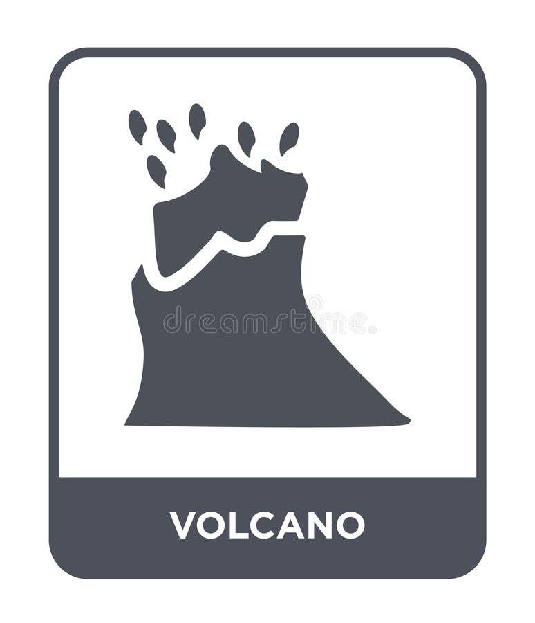 icono del volcán en estilo de moda del diseño E símbolo plano simple y moderno del icono del vector del volcán ilustración del vector