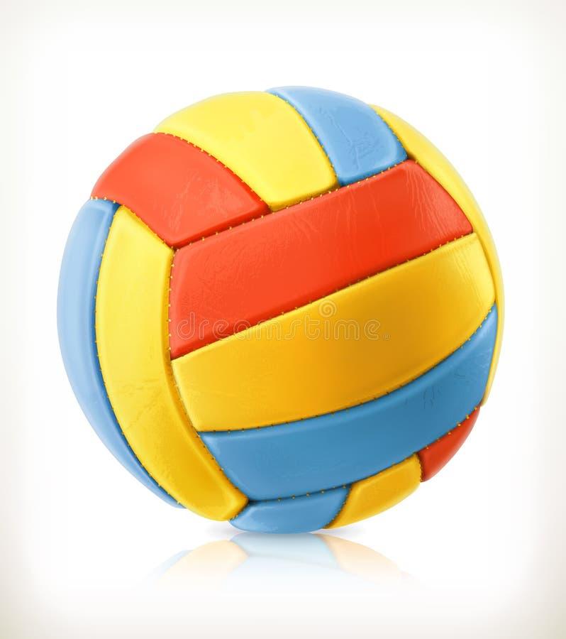Icono del voleibol de playa stock de ilustración