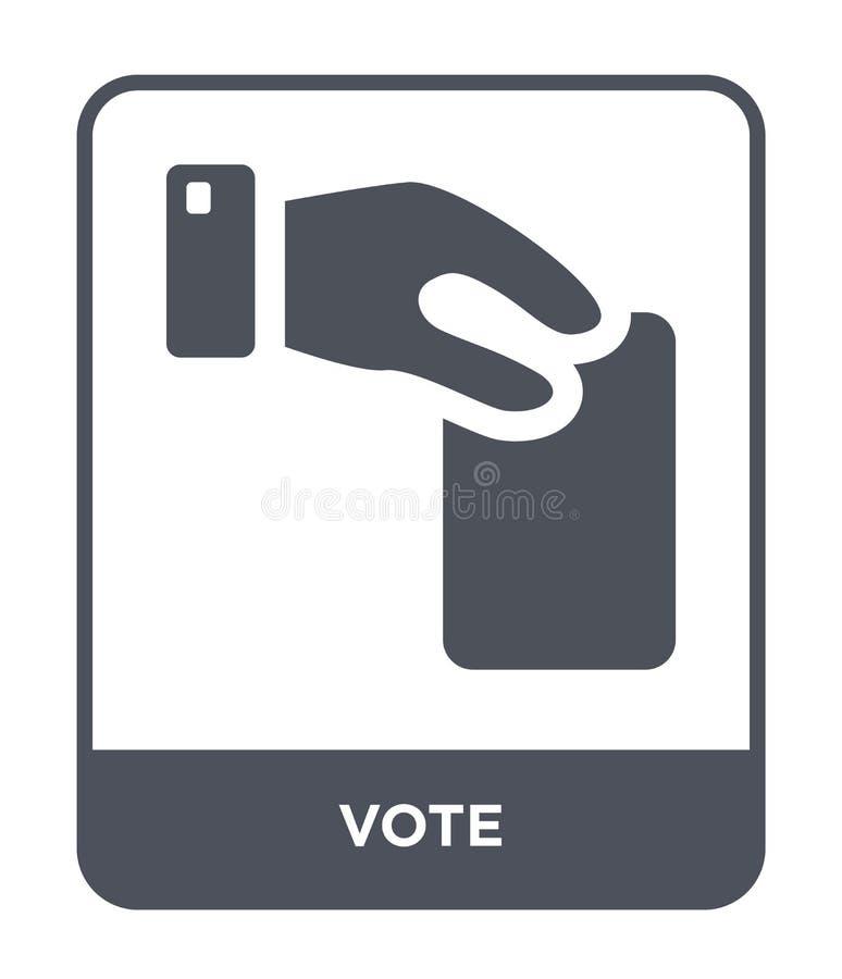 icono del voto en estilo de moda del diseño Icono del voto aislado en el fondo blanco símbolo plano simple y moderno del icono de ilustración del vector