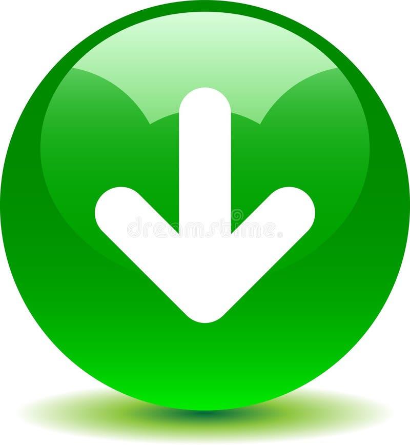 Icono del web del botón de la transferencia directa brillante stock de ilustración
