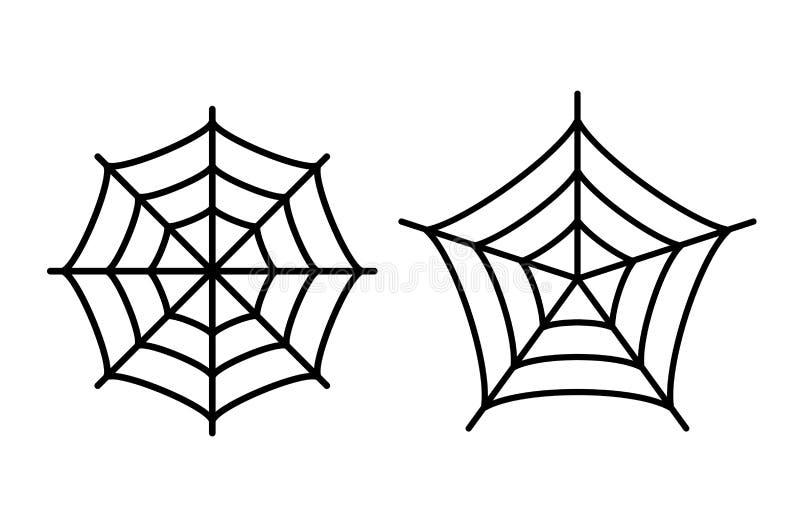Icono del web de araña ilustración del vector