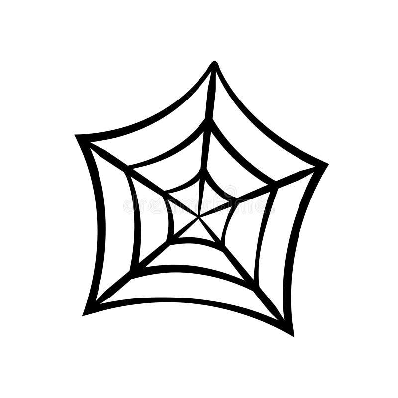 Icono del web de araña Silueta del vector de la telaraña Clip art de Spiderweb Ejemplo plano del vector ilustración del vector