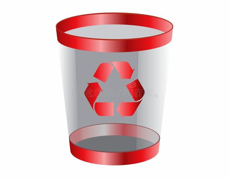 Icono del Web de la basura stock de ilustración