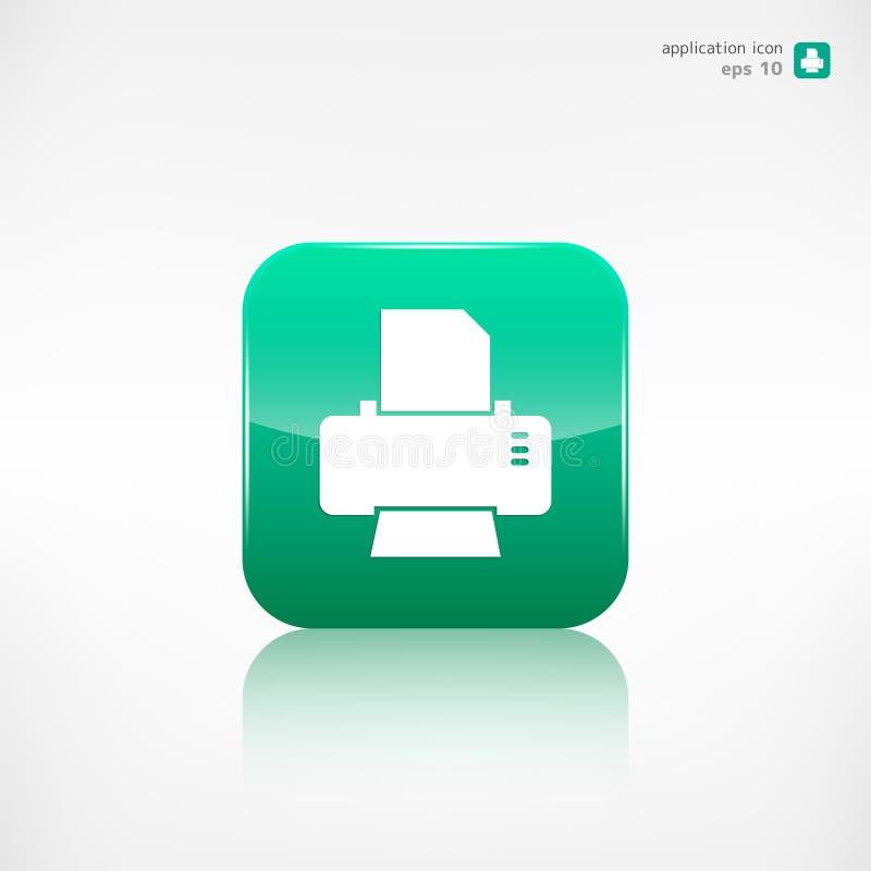 Icono del web de la impresora botón del uso libre illustration