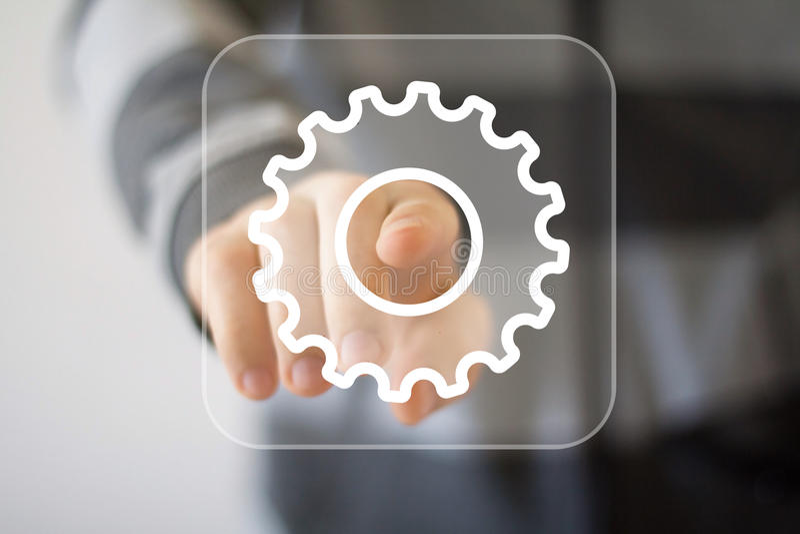 Icono del web del negocio de la ingeniería del botón imagen de archivo libre de regalías