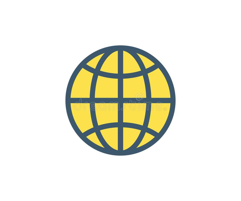 Icono del Web Ejemplo del vector en estilo minimalista plano stock de ilustración