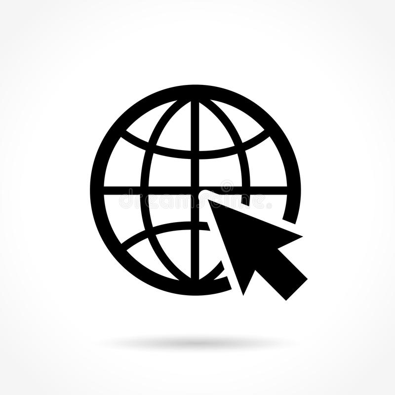 Icono del WEB en el fondo blanco ilustración del vector