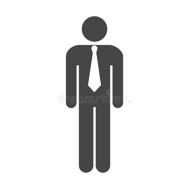 icono del web del hombre de negocios ilustración del vector