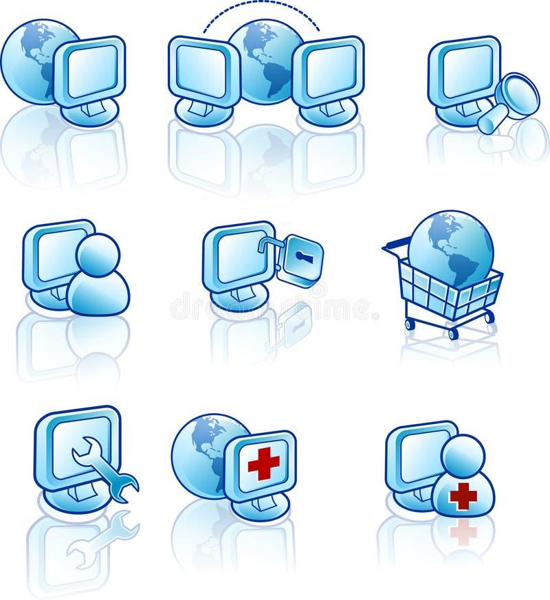 Icono del Web y del Internet ilustración del vector
