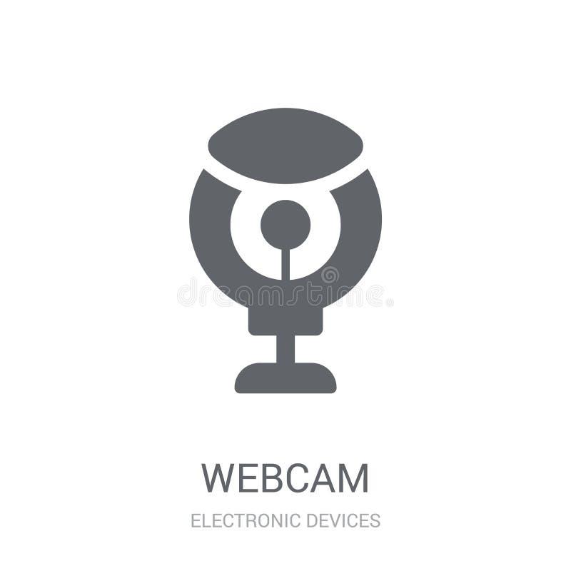 Icono del webcam  stock de ilustración