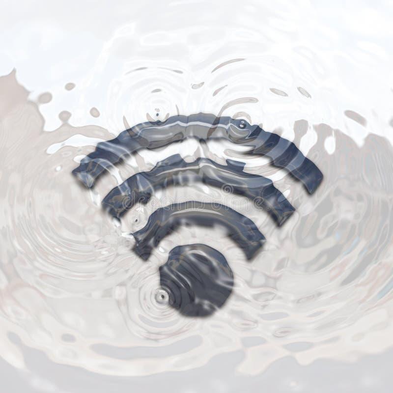Icono del Wi-Fi subacuático ilustración del vector