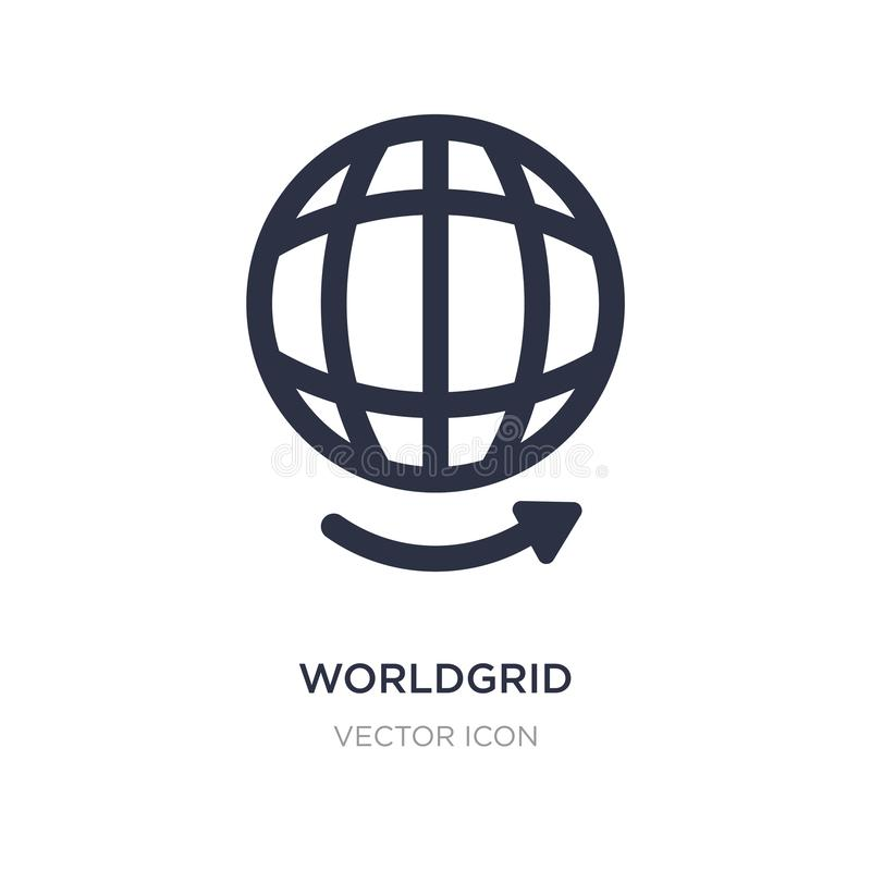 icono del worldgrid en el fondo blanco Ejemplo simple del elemento del concepto de UI libre illustration