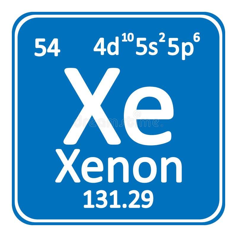 download icono del xenn del elemento de tabla peridica stock de ilustracin ilustracin de electrn - Tabla Periodica El Xenon