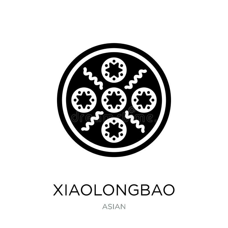 icono del xiaolongbao en estilo de moda del diseño icono del xiaolongbao aislado en el fondo blanco icono del vector del xiaolong ilustración del vector