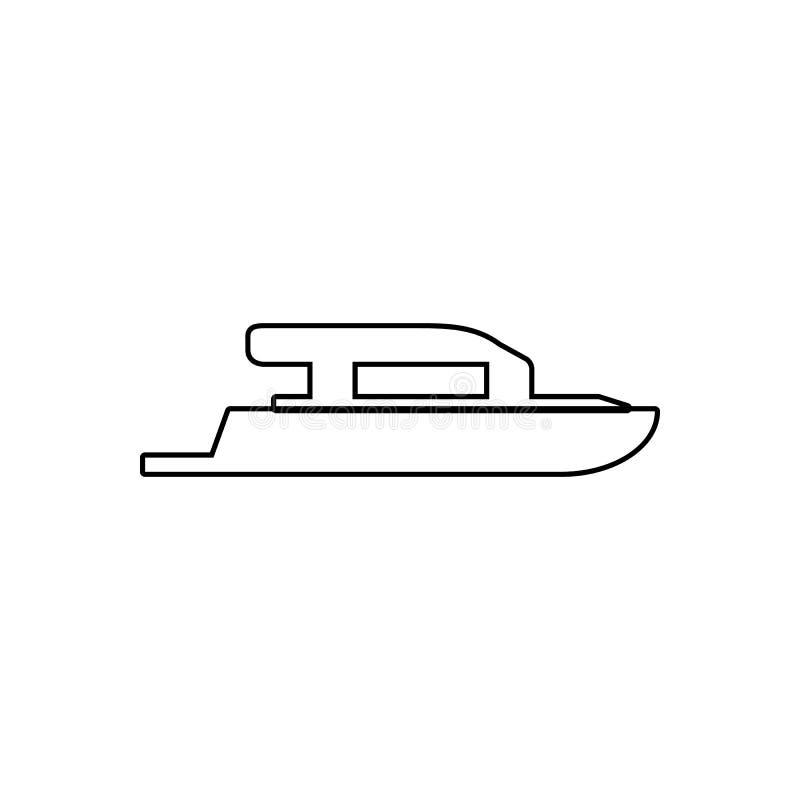 Icono del yate Elemento del transporte para el concepto y el icono m?viles de los apps de la web Esquema, l?nea fina icono para e libre illustration